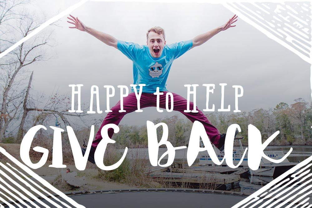 happy for no good reason - give back